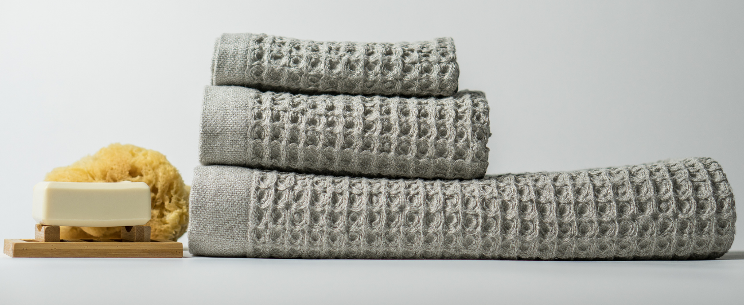 Nutrl Home Waffle Weave Bath Towel