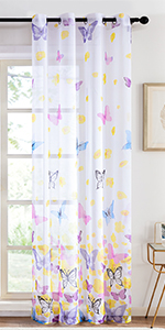 butterfly sheer curtains
