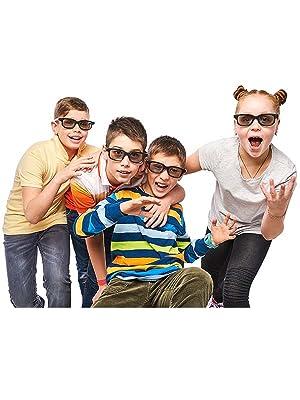 Ultra Azul Oscuro 3 Par de Gafas 3D Pasivo para Niños para Uso con ...