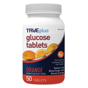 TRUEplus glucose tablet fast acting glucose raise blood glucose boost energy