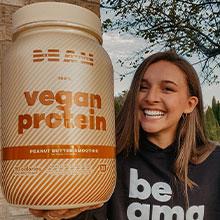 BEAM vegan protein powder protein supplement l youcanbeam l vegetarian
