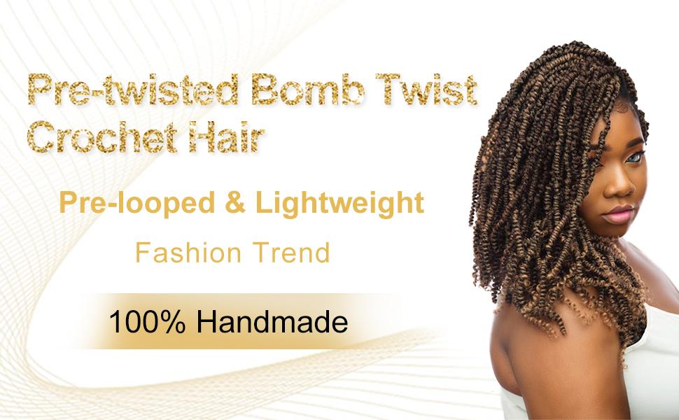 Amazon Com Mobok Pre Looped Bomb Twist Crochet Hair 12