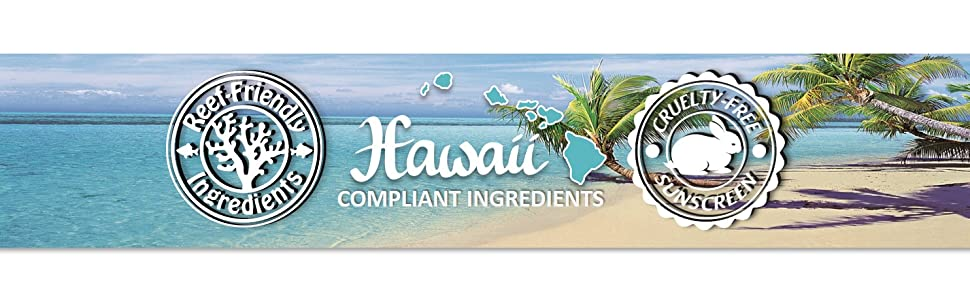 hawaii sunscreen cruelty free sunscreen reef friendly reef safe coral spf beach ocean water palm