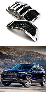 Front Grille Grill Inserts Covers for 2014-2018 Jeep Cherokee