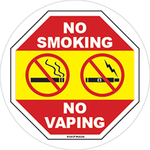 no vaping sign no smoking sign for window