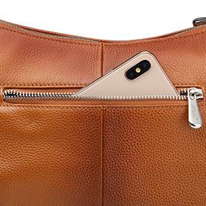 Exterior back zippered pocket