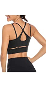 black sport bras