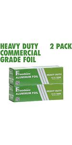 Heavy Duty Aluminum Foil Commercial Industry Grade, Food Service, Wrap, Bulk Thick Super
