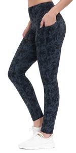 Printed Yoga Pants With Pockets
