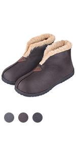 Snug Leaves Women/'s Comfy Suede Memory Foam Slippers Warm Plush Indoor Outdoor House Shoes with Elastic Heel by Merrimac