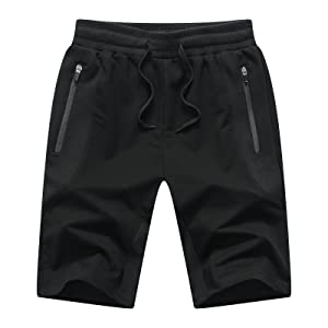 Black mens shorts