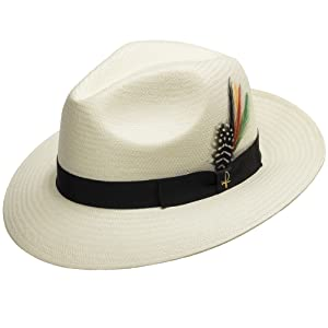 straw panama hat brim fedora