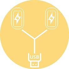 USB charging Y-cord