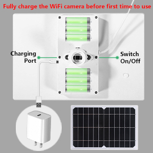 solar rechargeable battery camera