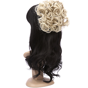 Messy Curly Hair Bun Extensions Updo Hairpiece Chignons