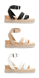 Sandles Sandals For Women Womens Platform Wedge Sandles Summer Espadrilles White Wedges Sandal