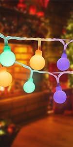 multicolor string lights