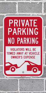 Private Parking No Parking
