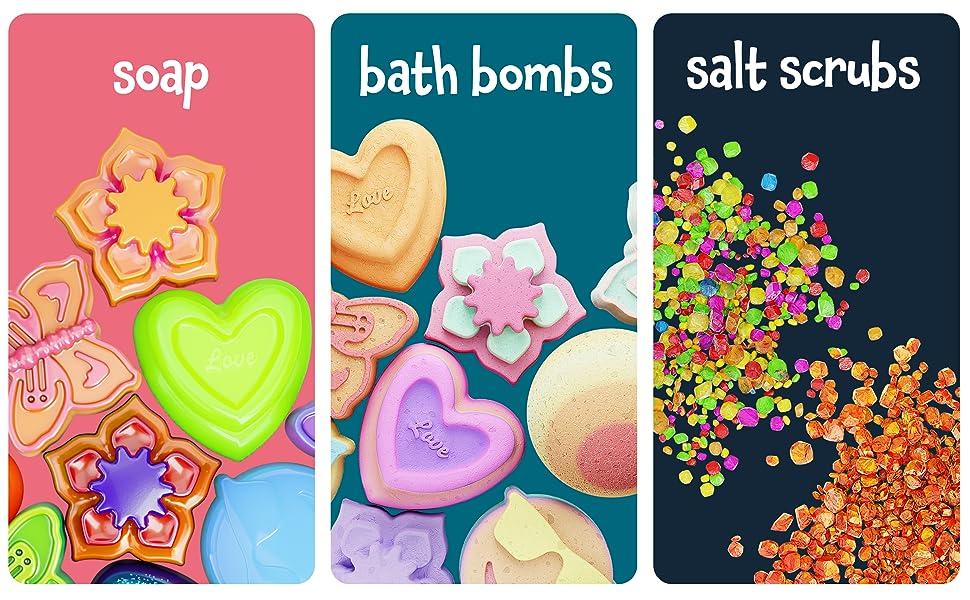 Soap, Bath Bombs, Salt Scrubs