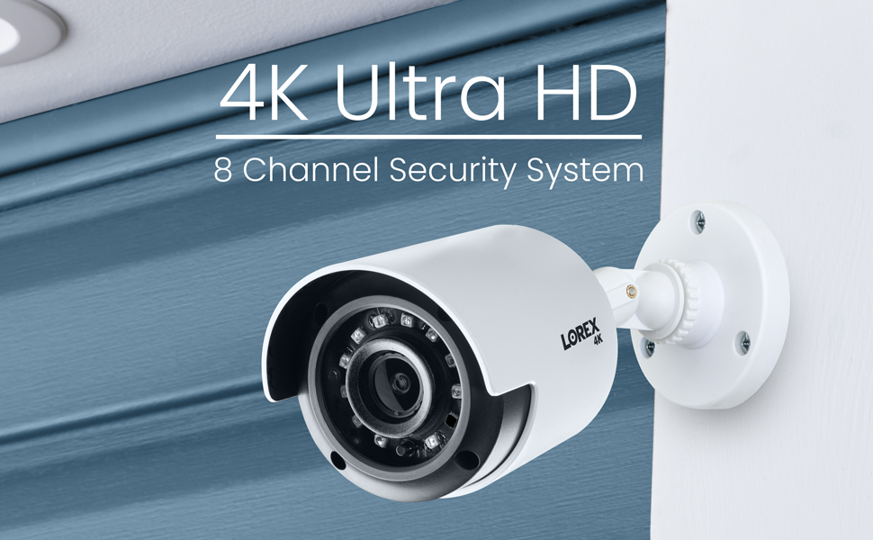 4K Ultra HD 8 channel security system