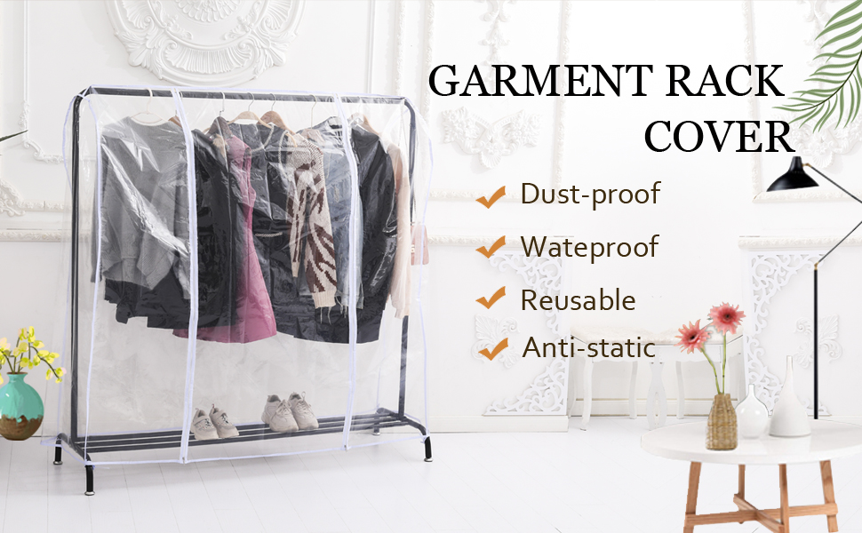Clear Garment/Clothes Rack Cover