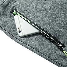 Running shorts with useful and stylish zipper pocket