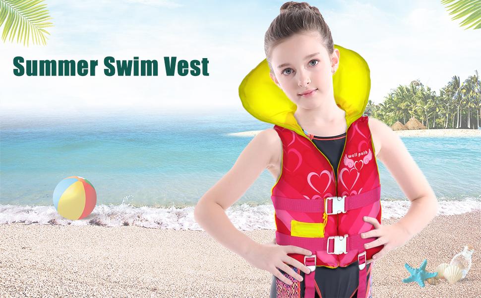 Kids Swim Vest Children Float Vest Swimming Training Learn to Swim Jacket