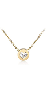 Solitaire Love Necklace