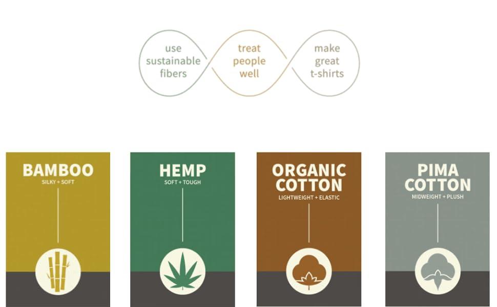 sustainable fiber t-shirts