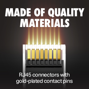 quality RJ45 gold-plated connectors