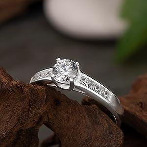 sterling silver wedding rings for women promise rings engagement band love ring for women