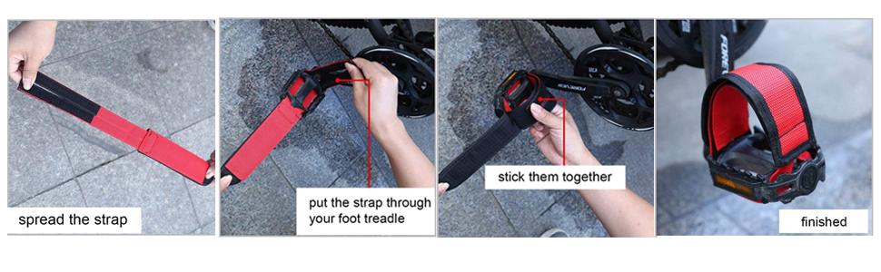 pedal straps