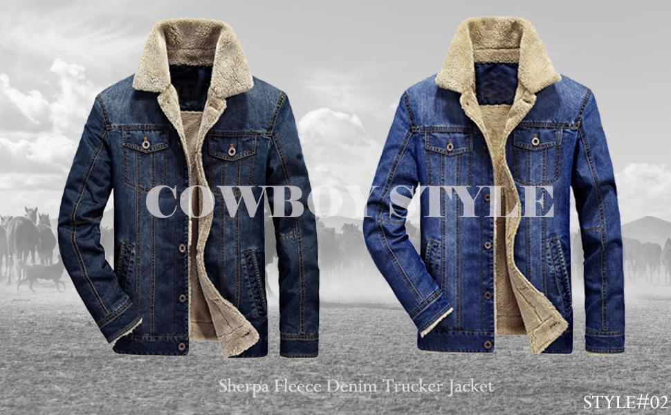 Mens Classic Denim Jacket Coat Casual Retro Bomber Trucker Biker Jean Outwear