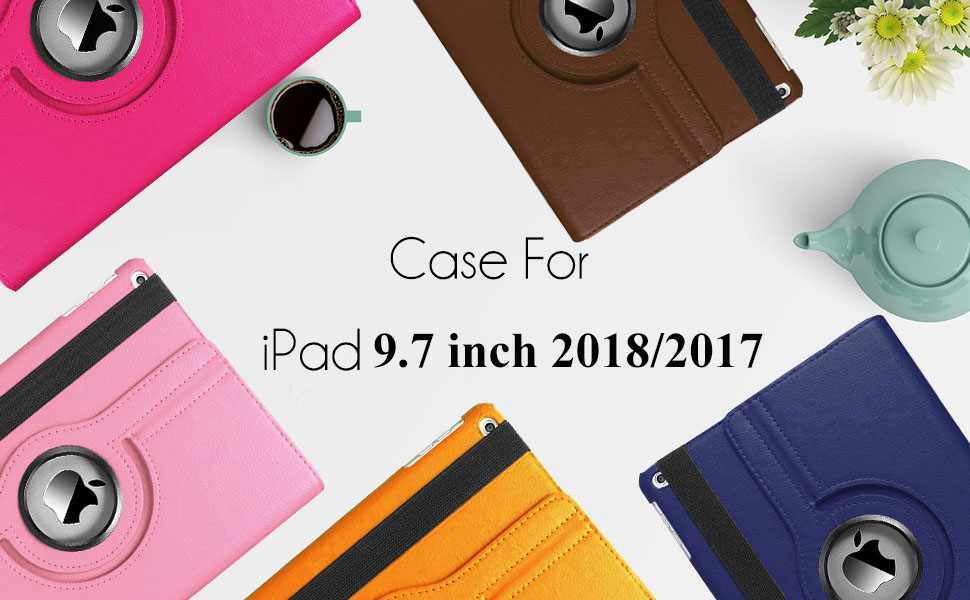 Amazon Com Cenyouful Ipad Case Fit 2018 2017 Ipad 9 7 6th 5th Generation 360 Degree Rotating Ipad Air Case Cover With Auto Wake Sleep Compatible With Apple Ipad 9 7 Inch 2018 2017 Purple Computers Accessories