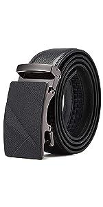 Click Sliding Buckle Leather Belt