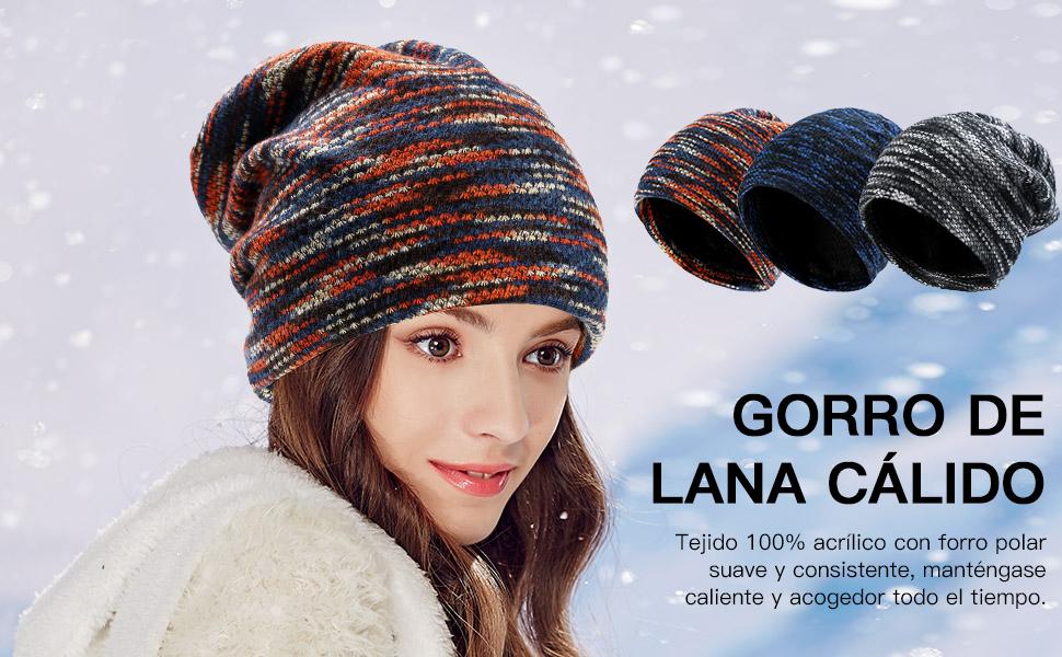 Sombrero de punto caliente Vbiger-Disfrute de este cálido invierno y muestre su personalidad!