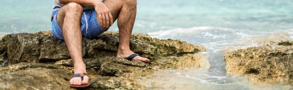 sandals men beach caribbean