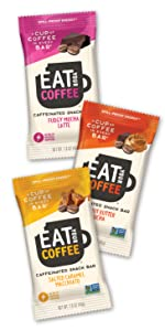 eat your coffee caffeinated snack bar bite dates oats nuts caffeine energy variety pack