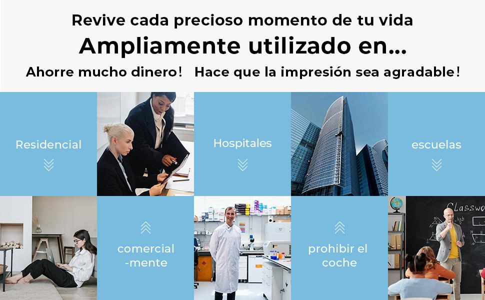 Ampliamente utilizado en casas & oficinas, también hospitales, bancos, escuelas