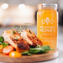 Orange Blossom jar with salmon
