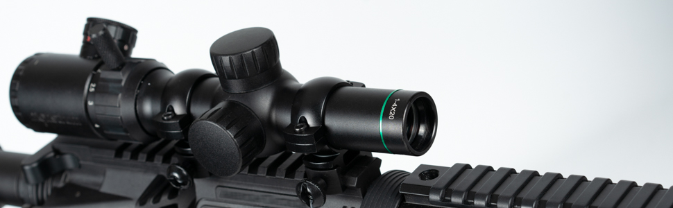MONSTRUM TACTICAL 1-4X20 RIFLE SCOPE