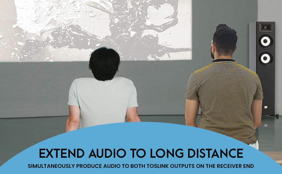 extend audio to long distances