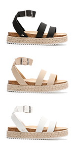 Strappy Sandals For Women Sandals For Women Womens Platform Wedge Sandles Black Summer White