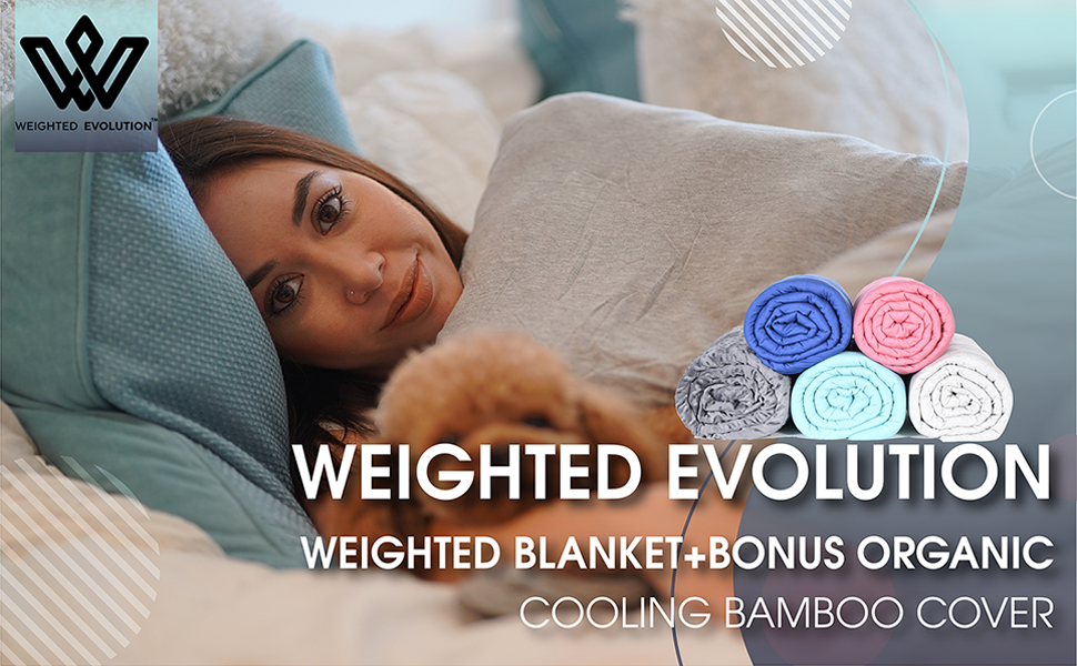 Weighted Blanket for adults, bamboo cooling weighted blanket, weighted evolution