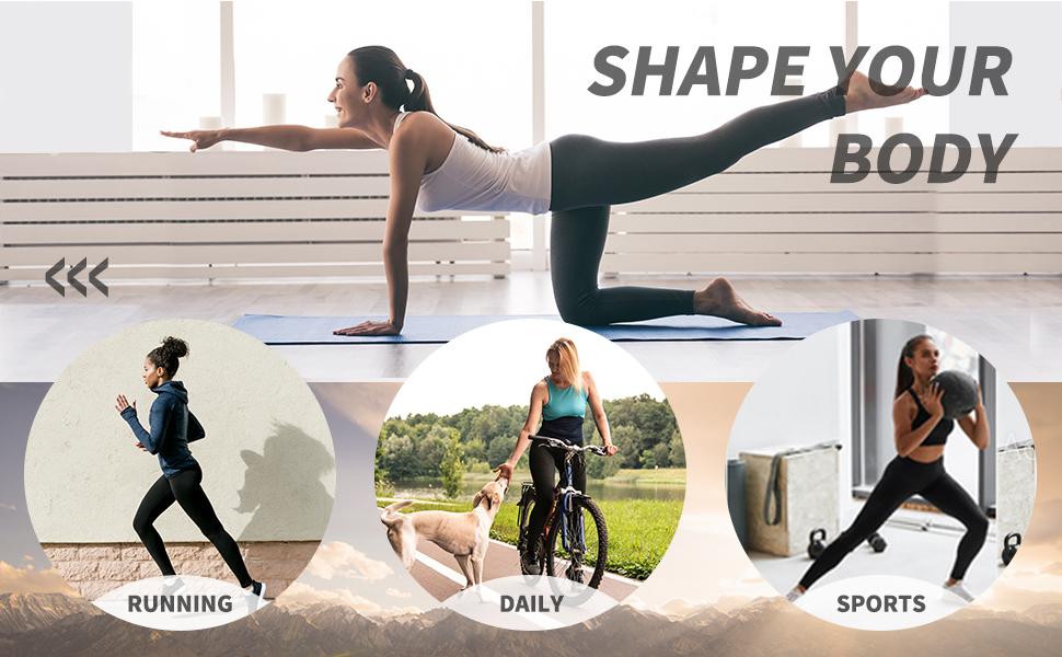 HOFI Womens High Waist Yoga Pants with Pockets Tummy Control Workout Running
