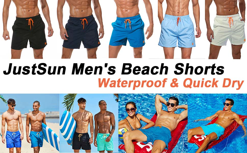 Men's Swimming Shorts with Pockets