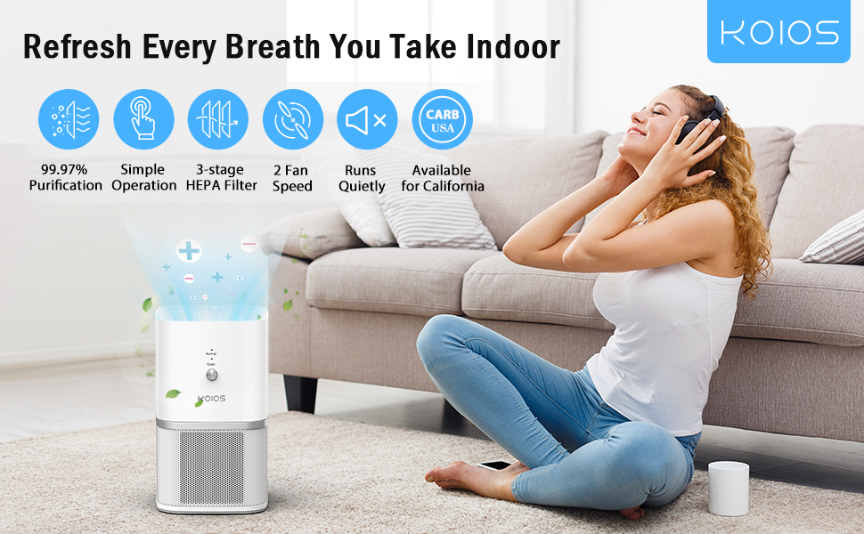 KOIOS air purifier for home