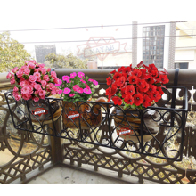 Trust basket NAYAB GIG hanging railing grills planters and flower pot plants metal basket stand