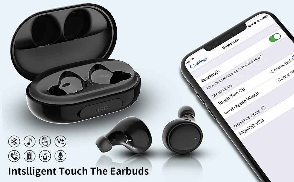 Wireless Earbuds Bluetooth 5.0 Wireless Headphones