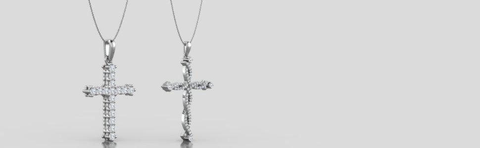Diamond Cross Necklaces